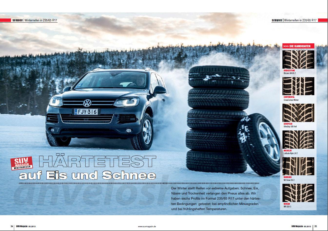 Test anvelope iarna 2013 pentru dimensiunea 235/65R17 (SUV Magazin)