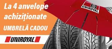 Promotie anvelope Uniroyal - cadou umbrela