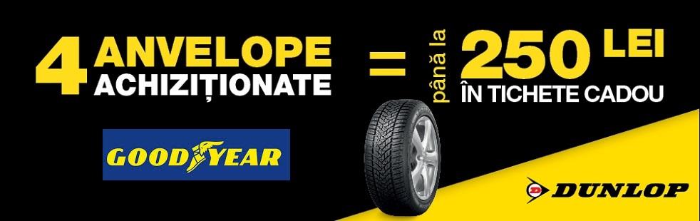 Promotie anvelope Goodyear si Dunlop