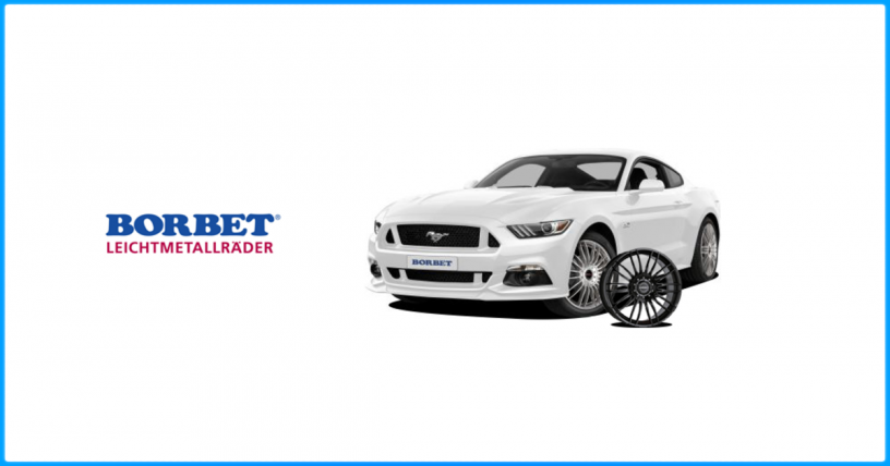 Jante Borbet montate pe Ford Mustang