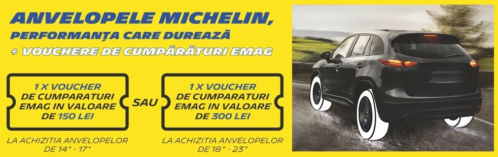 Voucher 300 lei anvelope Michelin