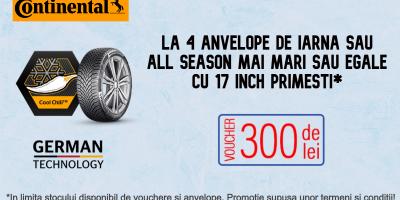Promotie iarna anvelope Continental